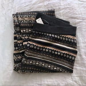 NEW Jcrew gray wool knit fair isle leggings